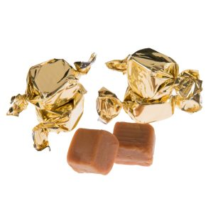 gold wrapped vanilla fudge